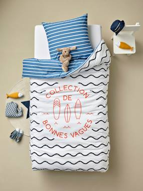 Vertbaudet Collection-Bedding-Children's Duvet Cover + Pillowcase Set, Cool Waves Theme