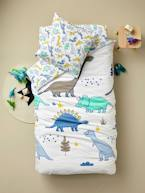 Children's Duvet Cover + Pillowcase Set, Dinomania Theme  - vertbaudet enfant