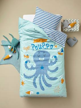 Vertbaudet Collection-Bedding-Children's Duvet Cover + Pillowcase Set, Super Octopus Theme
