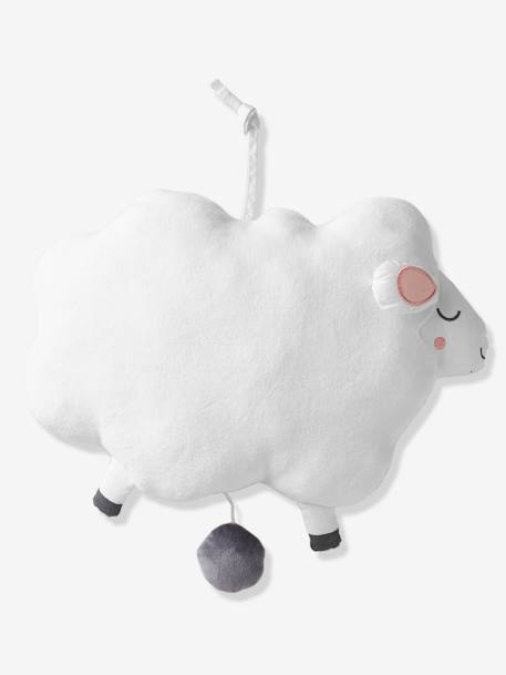 Musical Toy, Sheep WHITE LIGHT SOLID WITH DESIGN - vertbaudet enfant