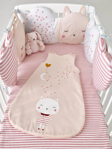 Baby Sleep Bag, Summer Special, Moonlight Theme PINK LIGHT SOLID WITH DESIGN - vertbaudet enfant