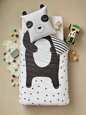Mid season sale-Bedding-Children's Duvet Cover + Pillowcase Set, My Panda Friend Theme
