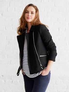 Maternity-Coats & Jackets-Maternity Biker-Style Jacket