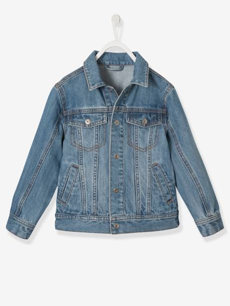 Boys Denim Jacket BLUE MEDIUM WASCHED+Stone - vertbaudet enfant