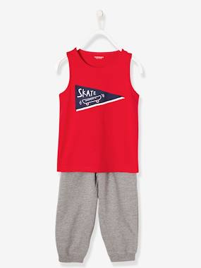 Boys-Nightwear-Boys' Dual Fabric Pyjamas with Harem-Style Bottoms