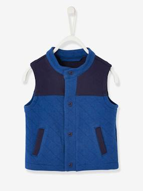 Baby-Jumpers, Cardigans & Sweaters-Baby Boys' Sleeveless Jacket