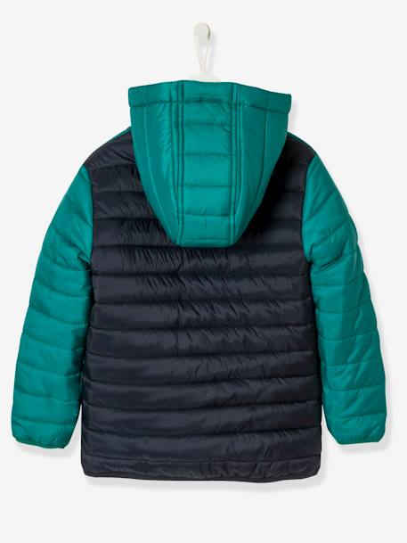 Boys' Lightweight Padded Jacket Blue+GREEN DARK SOLID - vertbaudet enfant