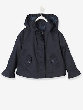 Vertbaudet Collection-Girls-Girls' Parka with Frills