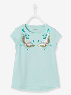 Vertbaudet Collection-Girls' T-Shirt with Sequins