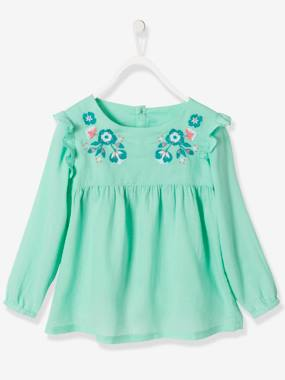 Girls-Blouses, Shirts & Tunics-Girls' Embroidered Blouse