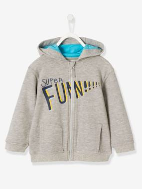 Boys-Cardigans, Jumpers & Sweatshirts-Cardigans-Boys' Jacket with Zip and Hood