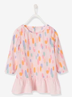 New collection-Girls' Blouse with a Mix of Prints