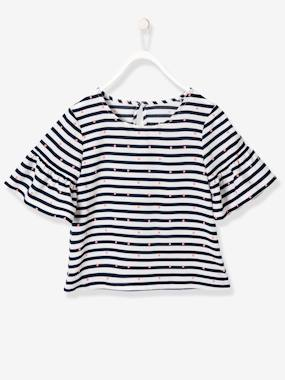 Mid season sale-Girls-Girls' Striped & Printed Blouse