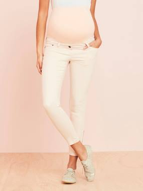 Vertbaudet Sale-Maternity-Slim Fit 7/8 Maternity Trousers with Zip, Inside Leg 30""