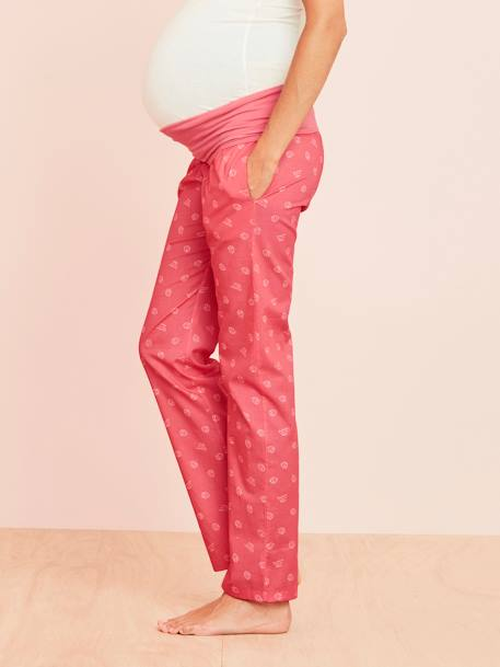 Maternity Printed Pyjama Bottoms RED LIGHT ALL OVER PRINTED+YELLOW LIGHT ALL OVER PRINTED - vertbaudet enfant