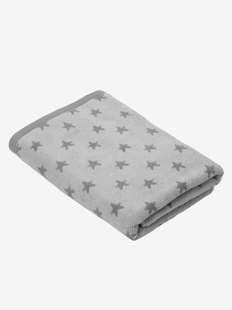 Bath Towel BLUE MEDIUM ALL OVER PRINTED+Green/cloud+Grey/stars+Pink/polka dot+Yellow/white striped - vertbaudet enfant