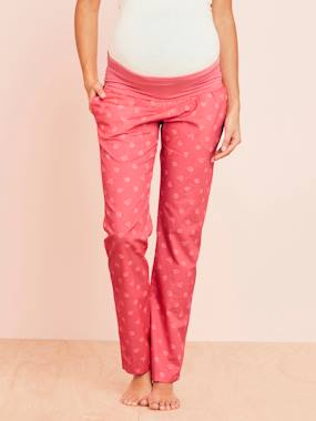 Vertbaudet Sale-Maternity-Nightwear & Loungewear-Maternity Printed Pyjama Bottoms