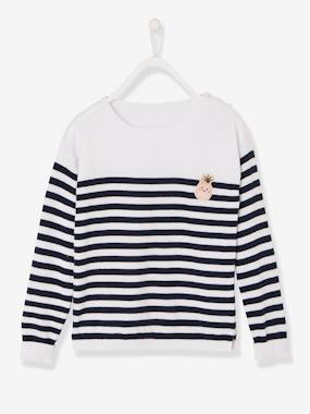 Girls-Jumpers-Girls' Sailor-Style Top