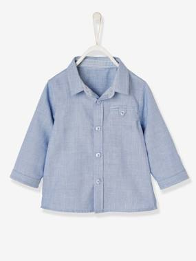 Baby-Blouses & Shirts-Baby Boys' Double-Sided Shirt