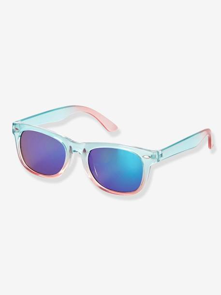 Children's Tie-Dye-Effect Sunglasses BLUE LIGHT SOLID - vertbaudet enfant