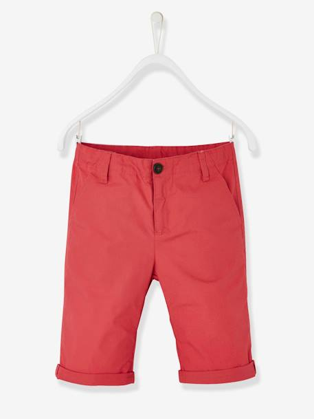Boys' Chino Bermuda Shorts BLUE DARK SOLID+GREEN LIGHT SOLID+GREEN MEDIUM SOLID+PINK DARK SOLID - vertbaudet enfant