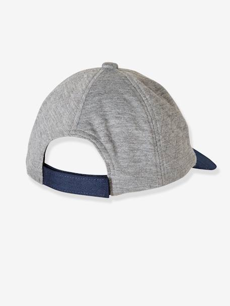 Boys' Cap with Flocked Letter M GREY LIGHT MIXED COLOR - vertbaudet enfant