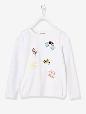 Girls-Tops-T-Shirts-Girls' Long-Sleeved Printed Top