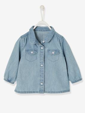Baby-Blouses & Shirts-Baby Girls' Denim Shirt