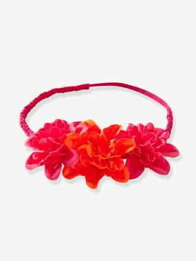 Girls-Accessories-Girls' Braided Headband with 3 Flowers