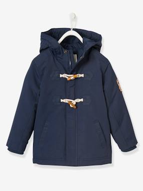 navy shark boy-Boys' Duffle-Style Parka