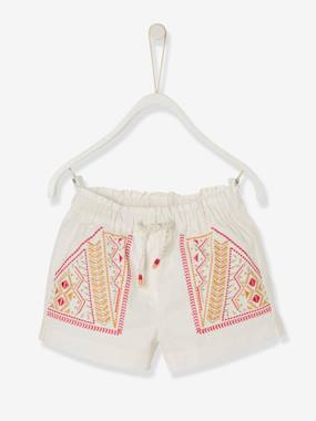 Baby-Shorts-Baby Girls' Embroidered Shorts: