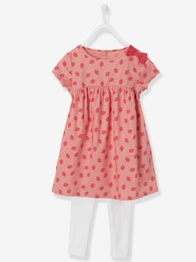 Fille-Ensemble-Ensemble fille robe + legging Collection Maternelle