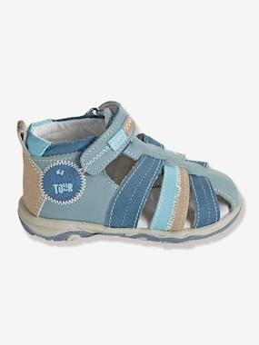 Shoes-Baby Footwear-Baby Boy Walking-Boys Leather Sandals With Touch N Close Fastening