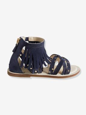 Shoes-Girls Footwear-Girls' Leather Sandals with Fringes