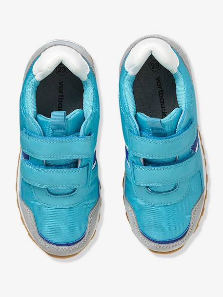 Trainers With Touch N Close Fastening BLUE BRIGHT SOLID+Red - vertbaudet enfant