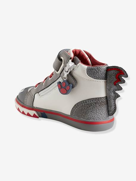 Girls' High-Top Trainers, Autonomy Collection WHITE LIGHT SOLID WITH DESIGN - vertbaudet enfant