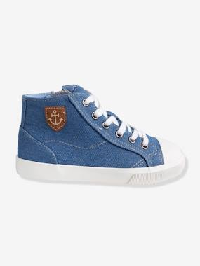 Shoes-Boys Footwear-Trainers-Boys' Denim High-Top Trainers