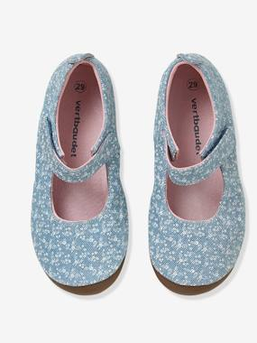 Vertbaudet Collection-Shoes-Girls Canvas Mary Jane Slippers