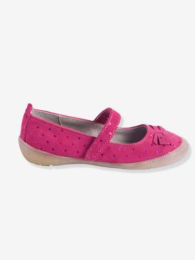 Shoes-Girls Footwear-Ballerinas & Mary Jane Shoes-Girls' Leather Ballerina Shoes with Touch 'n' Close Fastening Tab