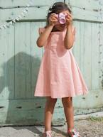 Girls' Sateen Dress with Embroidery  - vertbaudet enfant