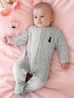 Babies' Velour Pyjamas, Organic Collection, with Decorative detail on the Back  - vertbaudet enfant
