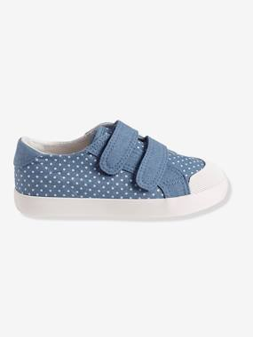 Shoes-Girls Footwear-Girls' Fabric Trainers with Touch 'n' Close Fastening Tab