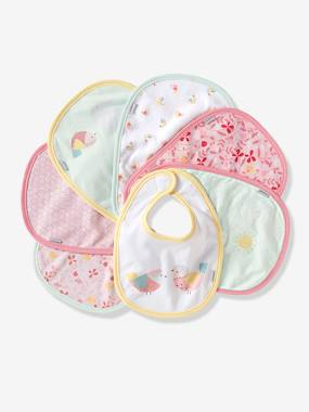 Nursery-Vertbaudet Pack of 7 Newborn Bibs
