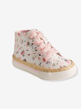 Shoes-Baby Footwear-Baby Girl Walking-Girls Canvas High-Top Trainers