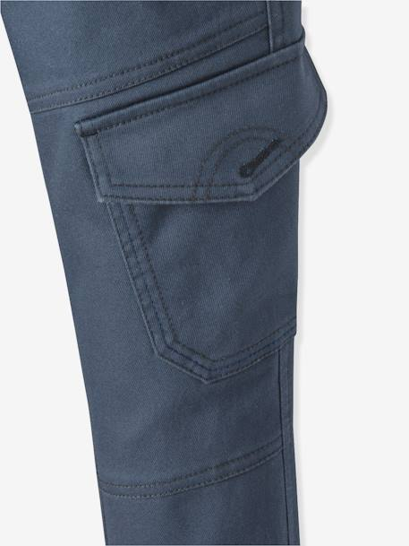 Boys' Indestructible Battle Dress Trousers BLUE DARK SOLID+GREY DARK SOLID+GREY LIGHT SOLID - vertbaudet enfant