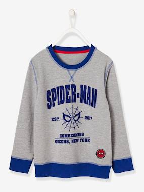 Vertbaudet Sale-Boys-Cardigans, Jumpers & Sweatshirts-Boys' Long-Sleeved Spiderman® Sweatshirt