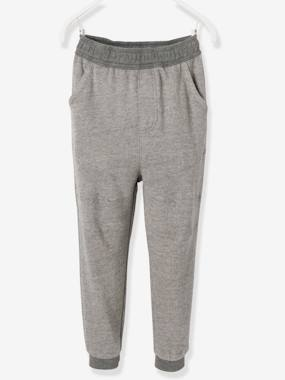 Boys-Trousers-Boys' Tracksuit Bottoms in Decorative Fleece