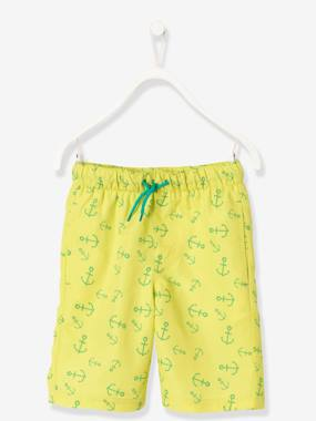 Swimwear-Boys' Bermuda Swim Shorts, Changing Print