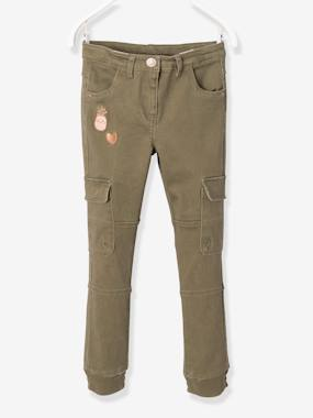 Trousers-Girls-Girls' Battle Dress Slim Fit Trousers