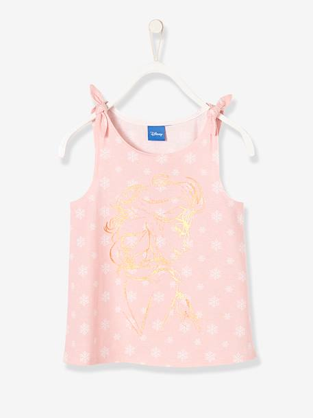 Girls' Frozen® Top PINK LIGHT ALL OVER PRINTED - vertbaudet enfant